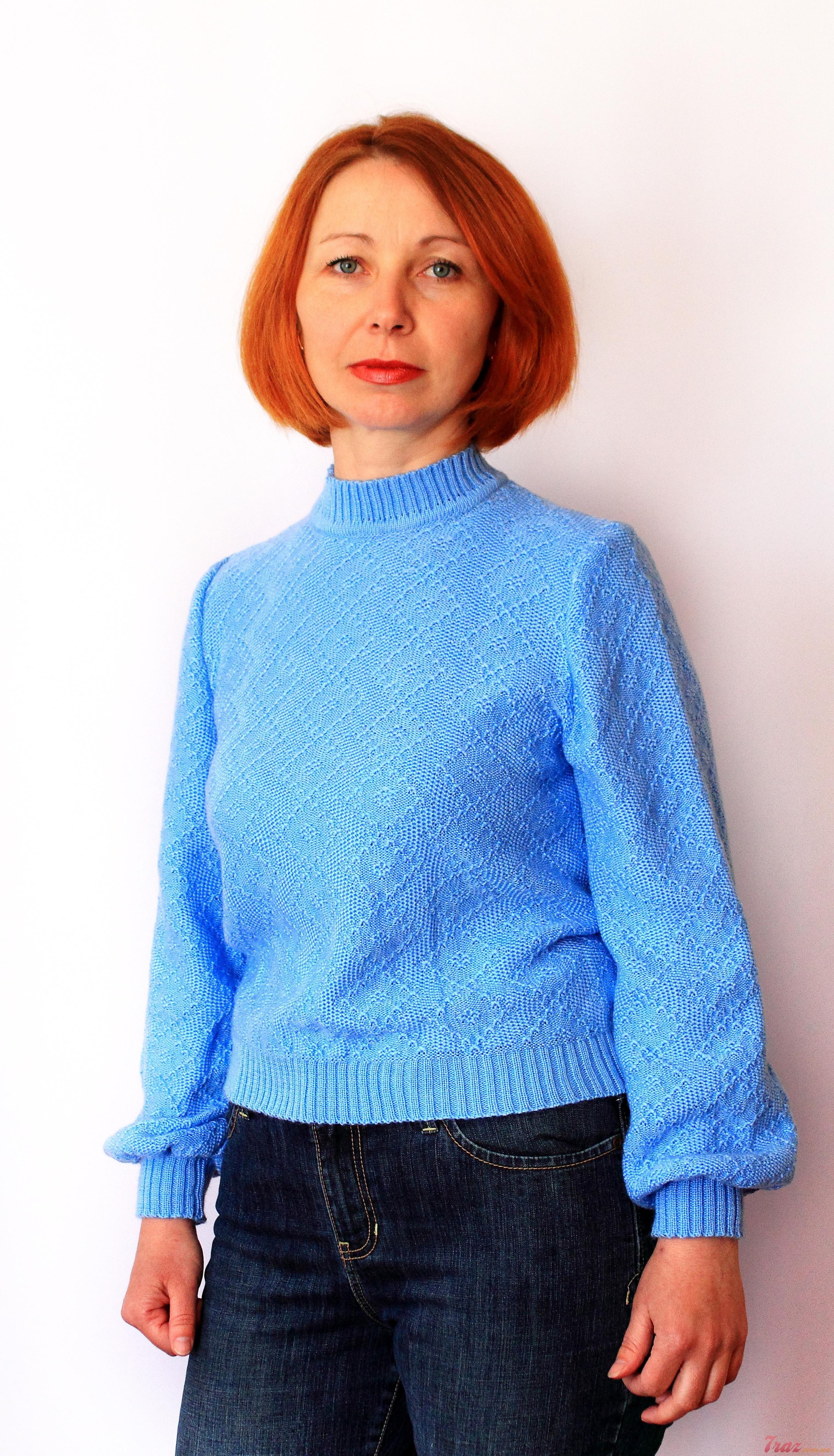 Женский голубой джемпер доставка